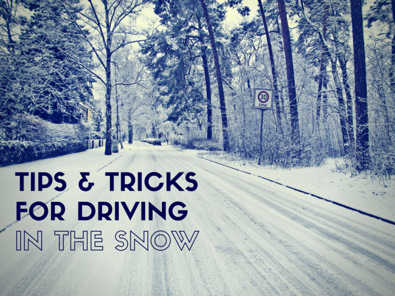 TIPS & TRICKS FOR DRIVING IN THE SNOW
