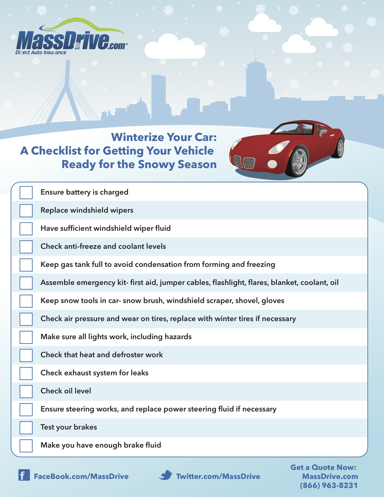 Winterize Your Car: A Checklist for Getting Your Vehicle Ready for ...